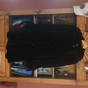 Jackets & Blazers - Hooded sheared mink coat .